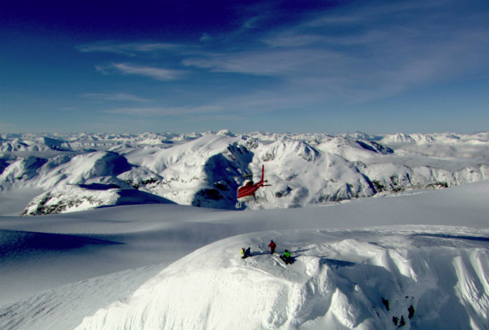 Heli-skiing is available just near Whistler
