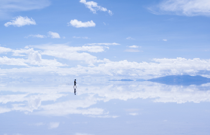 Heaven and Earth are one and the same at Salar de Uyuni