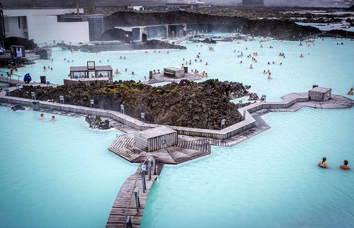 Relaxing in The Blue Lagoon, Iceland