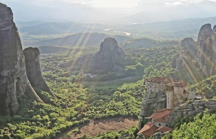 The Rousanou Monastery is one of six monasteries at Meteora