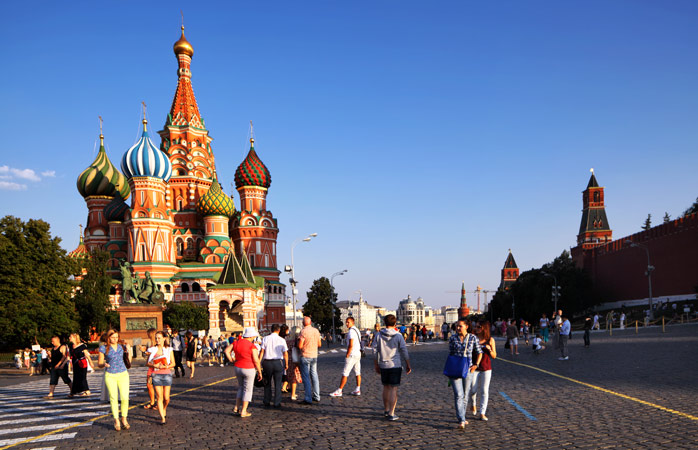 St. Basil's Cathedral is Moscow's own colourful frenzy