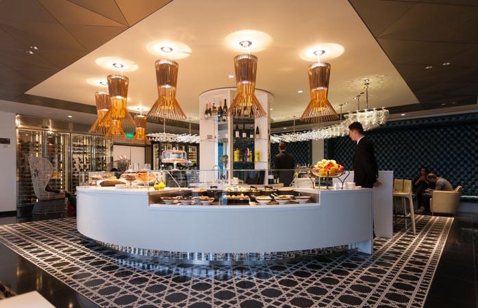 Qatar's business class lounge at London Heathrow. Not bad ...