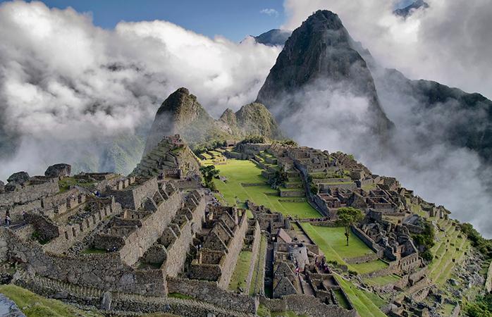 Clouds loom over Machu Picchu