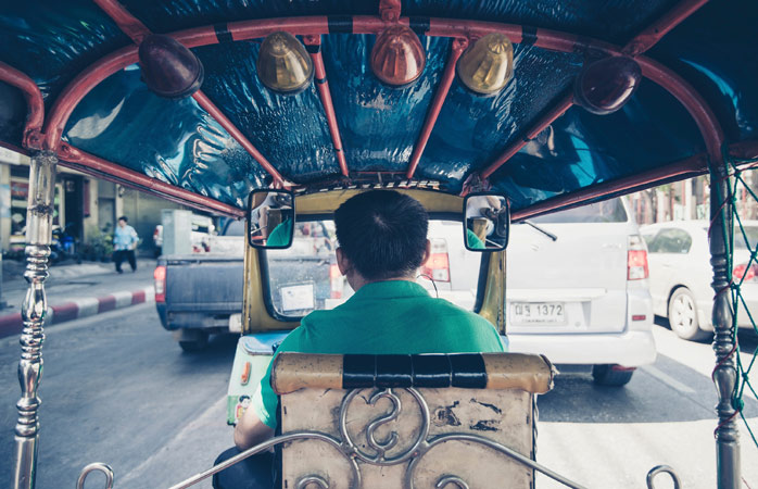 Taxi drivers in Bangkok will not expect a tip, but feel free to round up a few bahts at the end of your trip