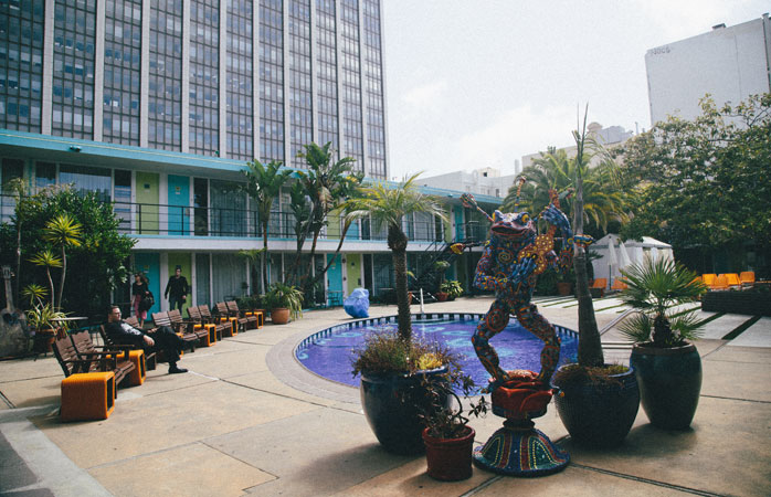 The pool area is the social epicentre at Phoenix Hotel