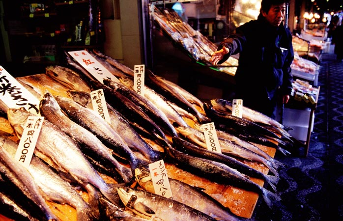 Sapporo's Nijo Market, In Hokkaido - get here early for the best selection of fresh food products
