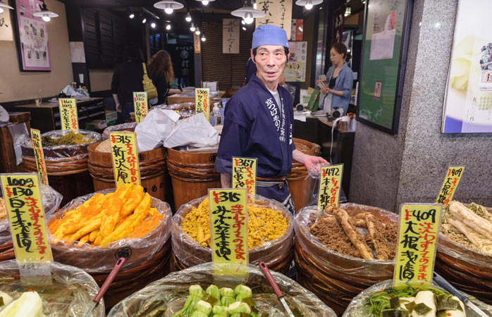 A selection of treats to tickle every fancy awaits you at Kyoto's Nishiki Market