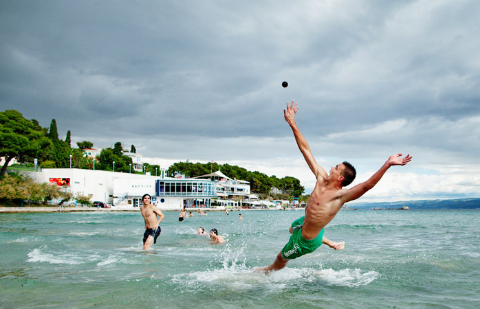 Catch that ball! Join a game of picigin – a ball game born on Bačvice Beach in Split