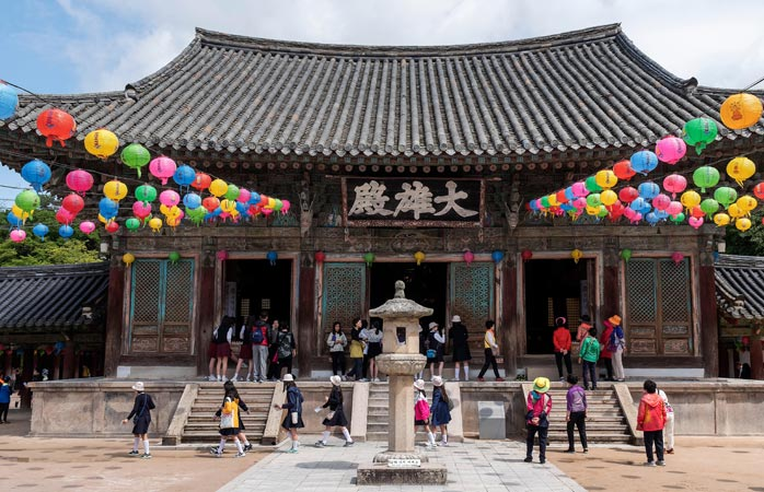 Bulguksa Temple, one of the most important relics in Gyeongju, and homes to numerous National Treasures