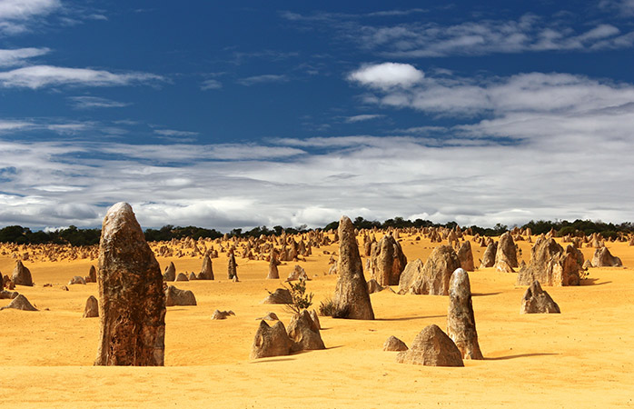 Swing by Nambung National Park and admire the Pinnacles formation