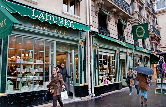Treat yourself to a sweet macaroon at Ladurée