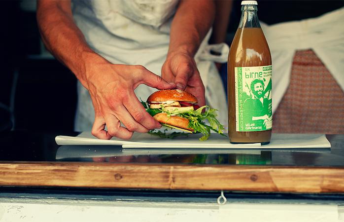 Vegan burger in Berlin
