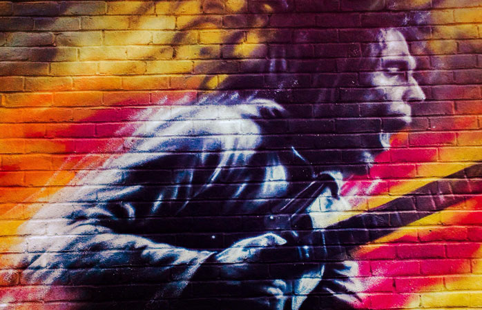 Brockley Street Art Festival is home to many colourful murals such as this one of Bob Marley