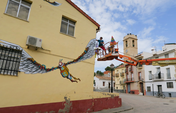 The Spanish village of Fanzara contains over 40 murals, most of which are re-worked annually at the M.I.A.U Fanzara