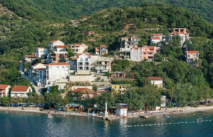 Hidden away in the Bay of Kotor – Lepetane Beach