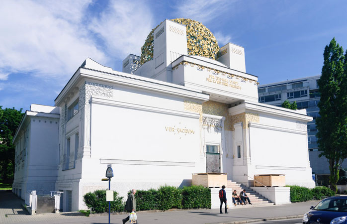 The aptly named Secession building houses daring exhibitions of contemporary art