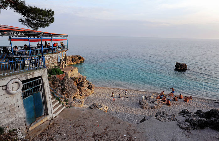 Hang out with the locals at Dhërmi Beach