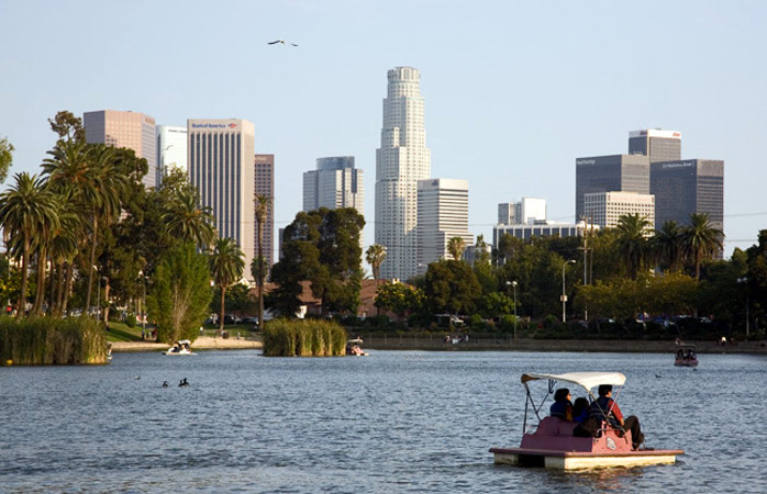 A breath of fresh air in the heart of the city at Echo Park Lake