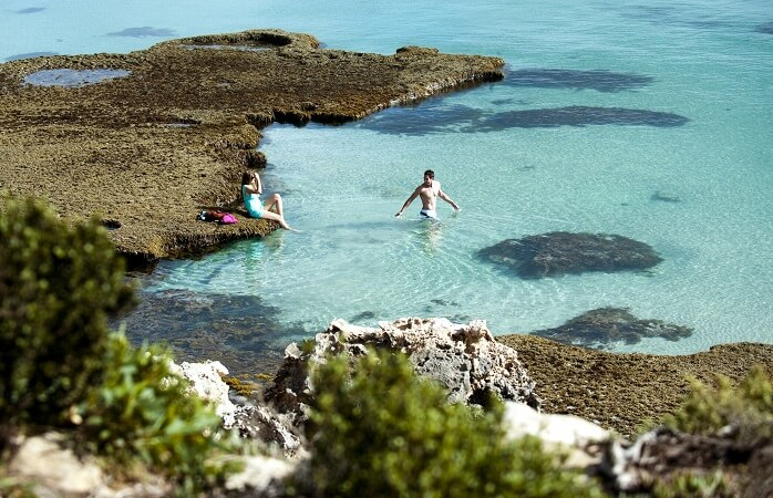 Plunge into the pristine waters at Vivonne Bay