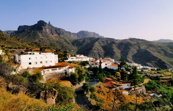 The mountain village of Tejeda - known for its annual almond festival