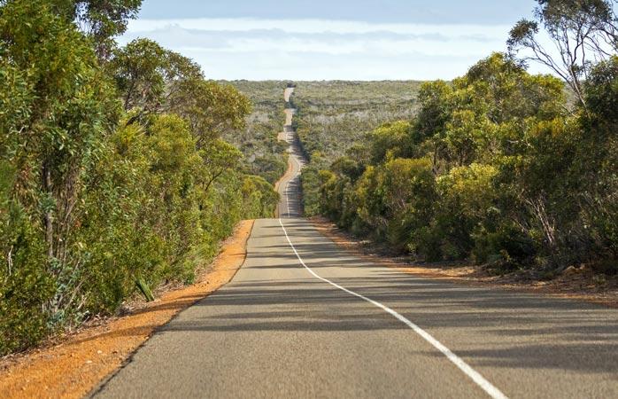 You won't find many traffic jams on Kangaroo Island