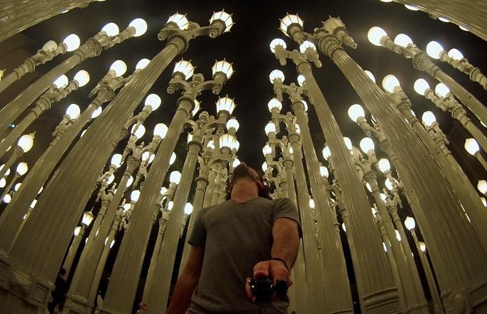 Urban Light, a sculpture of 202 lights by Chris Burden