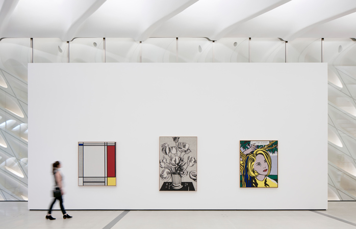 Works by Roy Lichtenstein in The Broad's third-floor galleries