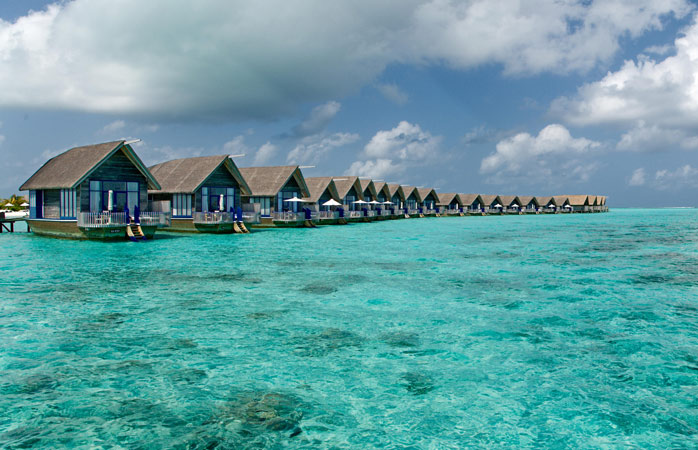 Enjoy the view from one of these overwater suites after long diving sessions