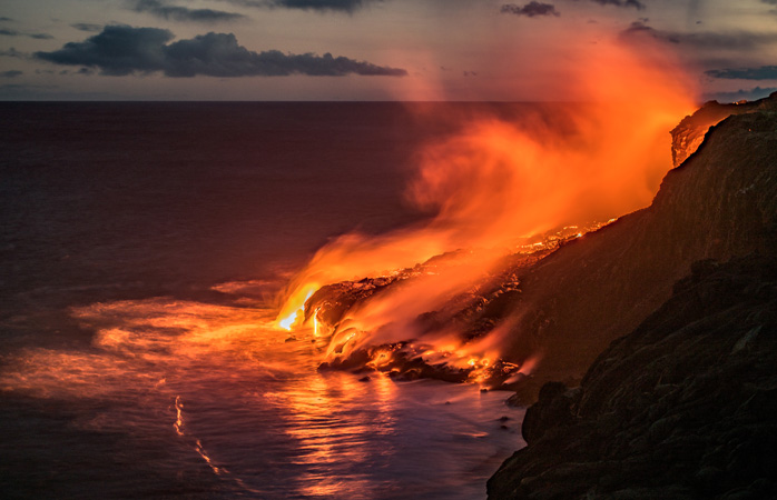 Big Island, Hawaii is a land of fire and water, quite literally