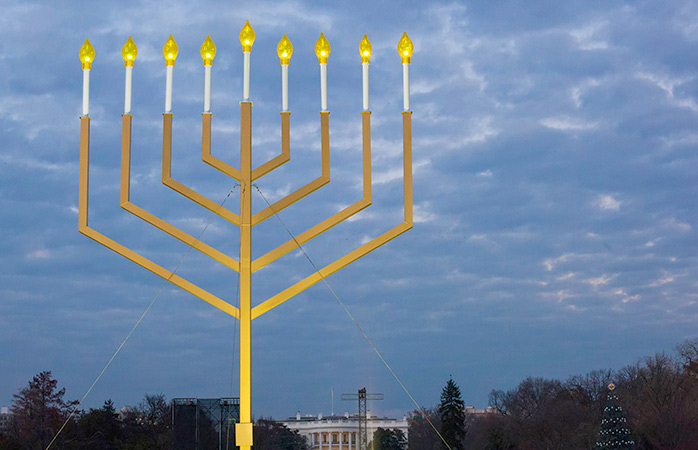 The lighting of the Menorah in Washington, D.C.