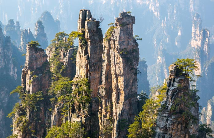 China's Hunan province is home to these towering rock pillars
