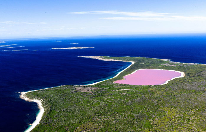 Take a dip in Australia's Pink Lake if you're feeling brave