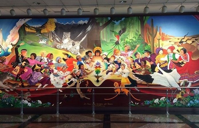 Denver Airport's murals are eerily beautiful © gorgeousmsc