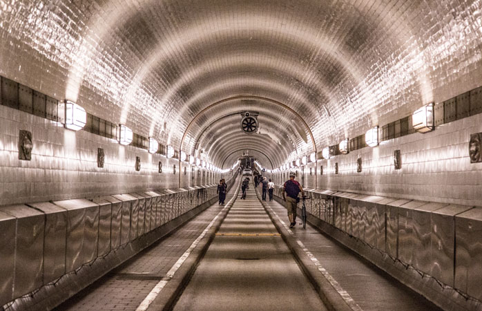 Get your camera ready when you visit the Elbe Tunnel - a local favorite