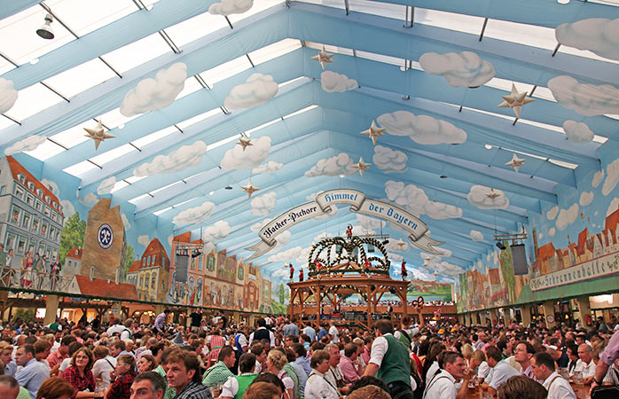 It's beer time all the time at Munich's Oktoberfest
