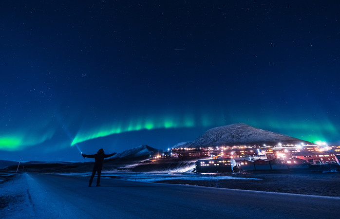 Thanks to the polar night, you'll be able to view the northern lights anytime of the day