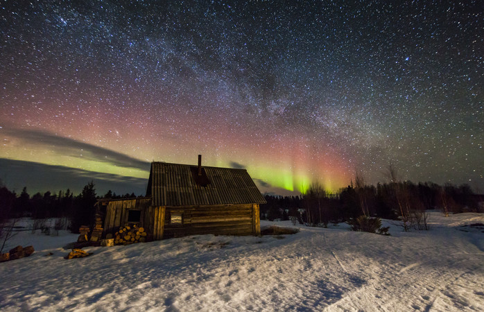 Spot the Northern Lights from Russia's northern city of Murmansk