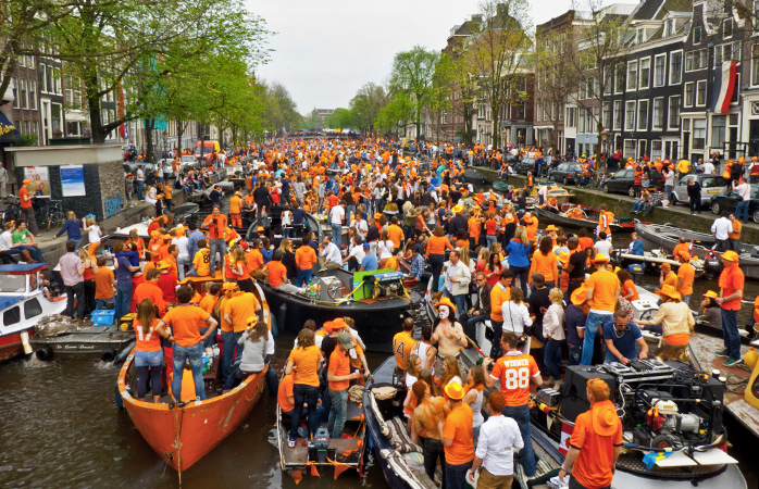 Add a splash of sunshine into your life this spring with the King's Day celebrations in Amsterdam