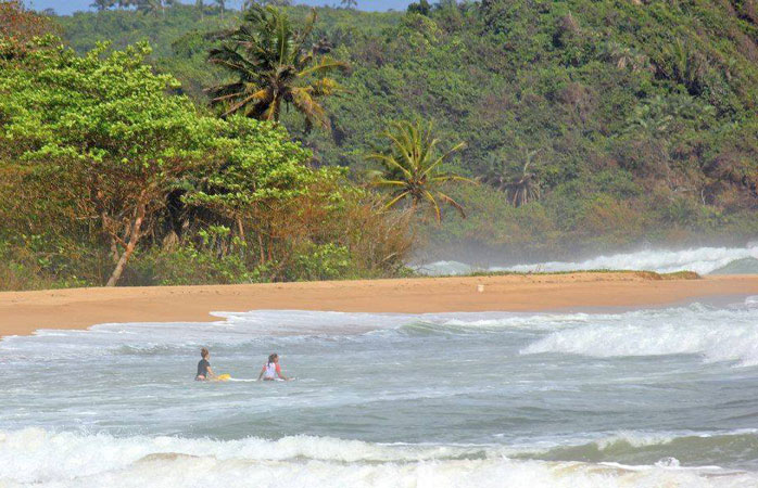 The coastline of Ghana is full of hidden surf spots