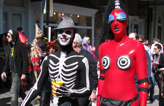 At Mardi Gras, eccentric costumes are the order of the day