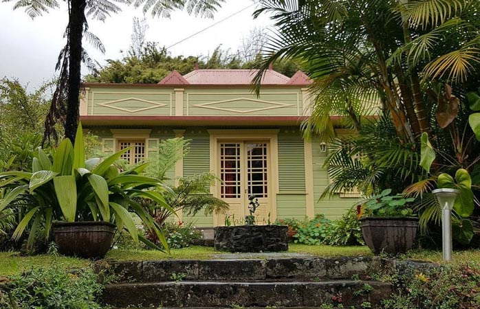 Hell-Bourg boasts colourful Creole villas surrounded by diverse greenery