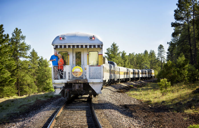 See some of the country's most spectacular scenery from the Grand Canyon Railway