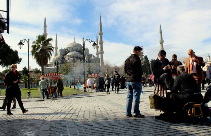 The bold aura of the Blue Mosque - venture inside it for a glimpse of some very detailed architecture