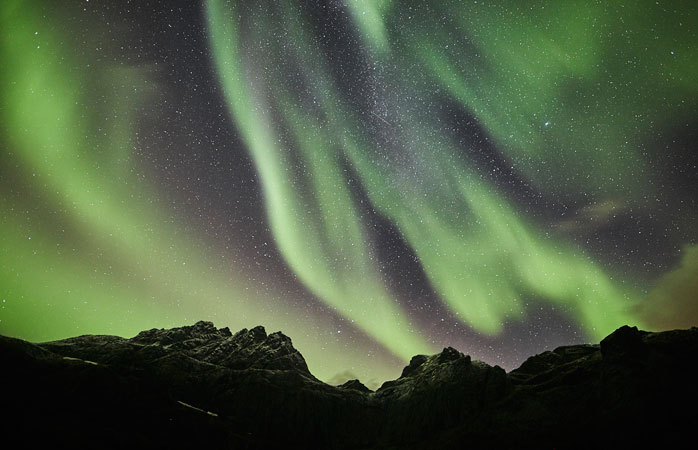 Watch the Northern Lights dance on the star-studded night sky