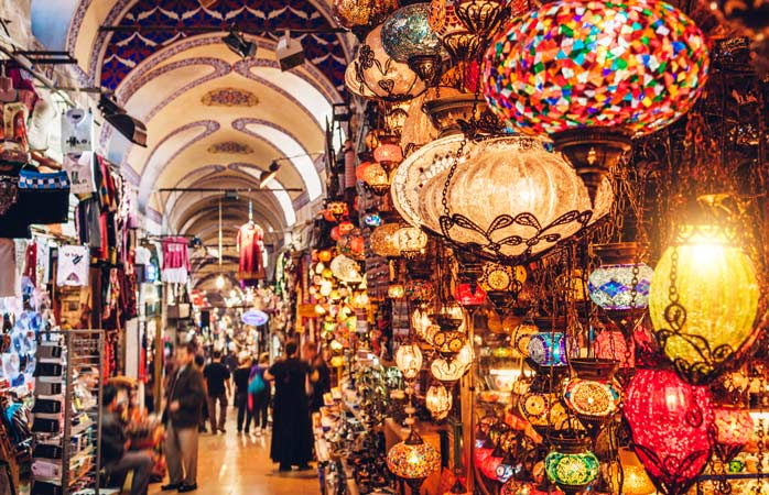 Lose yourself among the trinkets and gadgetry in the Grand Bazaar