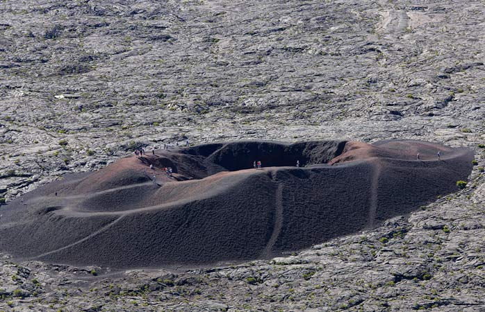 Formica Leo, a small volcanic crater of the Piton de la Fournaise volcano