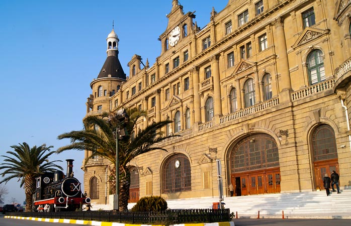 Drop by the iconic Haydarpaşa Terminal, one of the Middle East's most iconic stations
