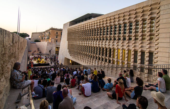 Find anything from jazz performances, poetry readings and bookbinding workshops in Valletta this year