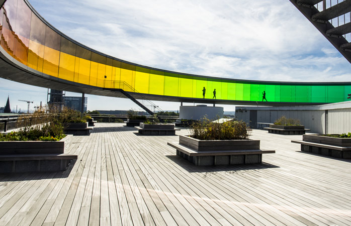 Bold colours and a bird's eye view of the city at ARoS