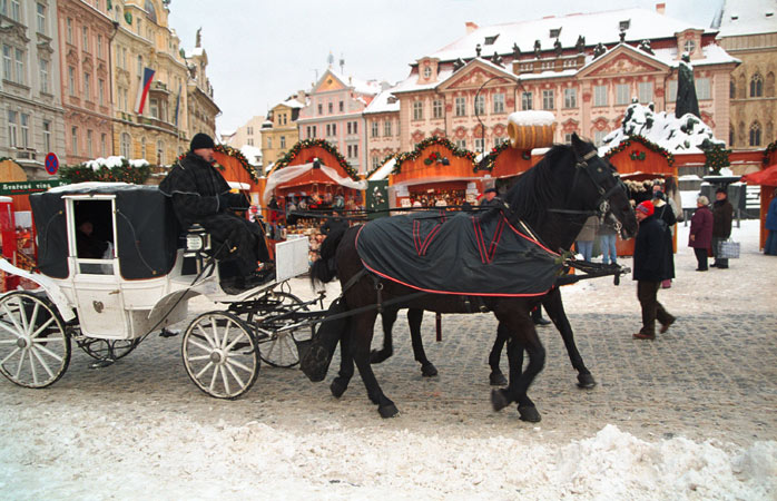Prague's most iconic Christmas market in the Old Town Square